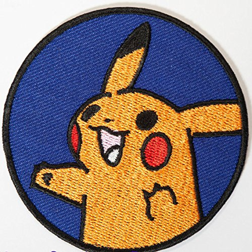 Pikachu Pokemon Patch Embroidered Iron on Badge Aufnäher Kostüm Fancy Kleid Pokémon ()