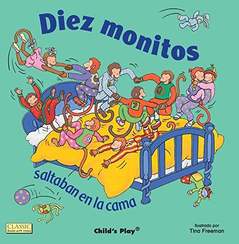 Diez Monitos Saltaban en la cama (Classic Books with Holes 8x8)