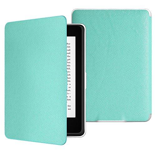 MoKo Kindle Paperwhite Case - Custodia Origami Ultra Sottile per Amazon Kindle Paperwhite (Adatto Tutte le versioni 2012, 2013, 2015 e 2016),Non adatto per Paperwhite 10th generation 2018, AZZURRO