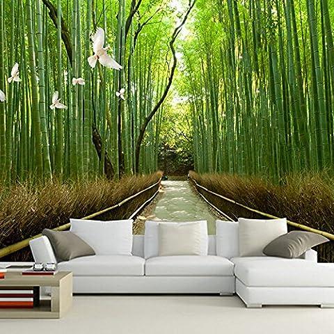 ZLJTYN 240cmX160cm murale bambou 3d profitez de la vie et sentir la beauté de la nature des panneaux muraux décoratifs salon art déco mur papier peint