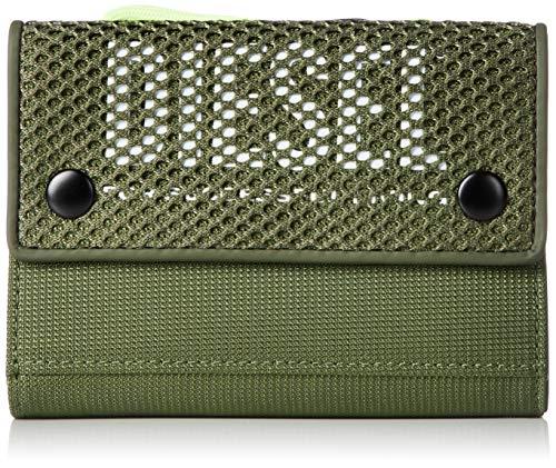 Diesel Herren Yoshi Wallet with Keyring Geldbörse, Grasshopper/Orange Peel, Einheitsgröße