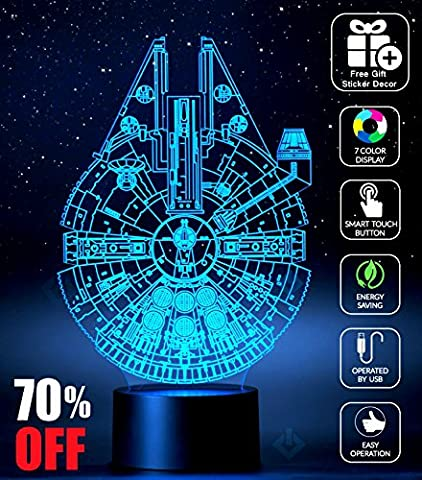mt-sw-lamp - Star Wars Millennium Falcon