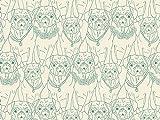 Art Gallery Stoffe Mops Ville Vert Stretch Jersey Knit