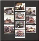 vergangenen BUSSE Trading Karten–Leyland Tiger Cub (timpsons) Leyland Titan PD2/20(Edinburgh Corporation) Guy Arab MK4(Birmingham) Guy Arab MK2(Northern) Transport und Strom Board (shmd Board) Daimler cwa6(STALYBRIDGE Hyde mossely und Dunkinfield) Albion Valkyre (rot und weiß) Bristol K (Southern National) bmmo C5(Midland rot) Bedford SB (West Wight Motor Bus CO)