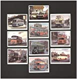 Bygone Buses Trading Cards - Leyland Tiger Cub (Timpsons) Leyland Titan PD2/20 (Edinburgh Corporation) Guy Arab Mk4 (Birmingham) Guy Arab Mk2 (Northern) Transport and Electricity Board (SHMD Board) Daimler CWA6 (Stalybridge Hyde Mossely and Dunkinfield) Albion Valkyre (Red and White) Bristol K (Southern National) BMMO C5 (Midland Red) Bedford SB (West Wight Motor Bus Co) - Artofwheels - amazon.co.uk