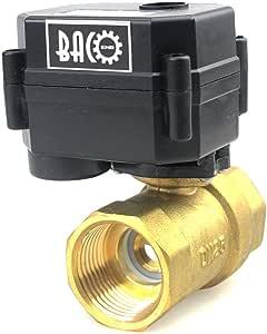 BACOENG Vanne 2 voies motoris/ée 1 DN25 Acier Inoxydable DC12V CR01 normalement ferm/ée