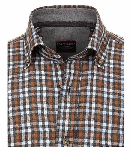 Michaelax-Fashion-Trade -  Camicia classiche  - A quadri - Con bottoni  - Maniche lunghe  - Uomo Braun (600)