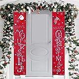 Sponsi Segni D'attaccatura Benvenuti di Natale di Benvenuto del Portone della Porta della Bandiera Dell'insegna di Festival della Decorazione del Partito di Natale