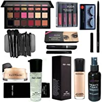 LOVE HUDA Professional Makeup Combo Primer, Foundation, Eyeliner, Mascara, Kajal, Loose Face Powder, Eyeshadow, Makeup…