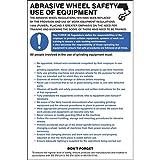 Caledonia signos 58125abrasivo rueda Reglamento Póster