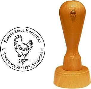 RS014409 Unmontiert /'Laufendes Huhn/' Stempel