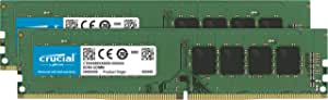 Crucial CT2K8G4DFS8266 16Go Kit (8Gox2) (DDR4, 2666 MT/s, PC4-21300, Single Rank x8, DIMM, 288-Pin) Mémoire