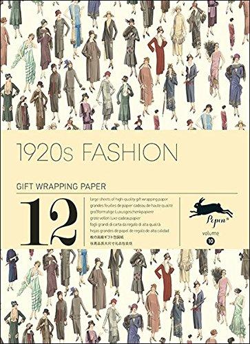 1920s Fashion, Vol. 10 : Grandes feuilles de papier cadeau de haute qualit