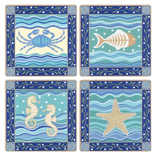 coasterstone-as9610-absorbent-coasters-4-1-4-inch-coastal-icons-set-of-4
