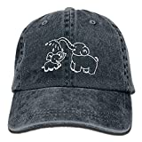 2018 Adult Fashion Cotton Denim Baseball Cap Elephant Mom and Baby Classic Dad Hat Adjustable Plain Cap