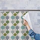 AZ Leaf Art Washable Waterproof Shower Curtain 54 x 72inch; SET OF 2 PCS