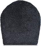 GRUND Badteppich 100% Polyacryl, ultra soft, rutschfest, ÖKO-TEX-zertifiziert, 5 Jahre Garantie, ORLY, WC-Deckelbezug 47x50 cm, anthrazit