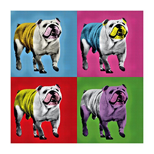 Great British Pub Dogs Andy Warhol Bulldog Women's Sweatshirt White