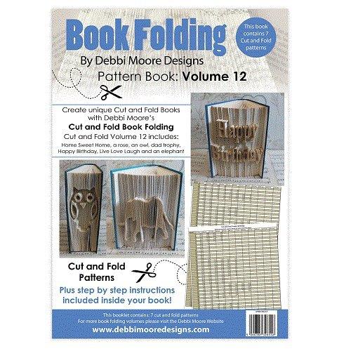 Debbi Moore Buch zusammenklappbar Muster Buch Volumen 12Schnitt & Falz Home Sweet Home Rose (Bleistift Moore)