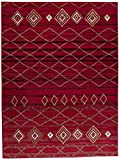 Carpeto Rugs Tapis Salon Rouge 130 x 190 cm Oriental Geometrique/Dijon Collection