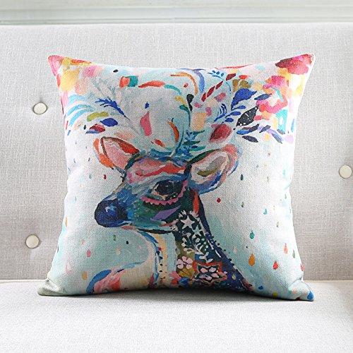 POPRY Kreative Persönlichkeit Kunst Tinte Baumwolle Kissen Kissen Nordic Verdickung Taille durch die Wohnzimmer Schlafsofa Office, 60 X 60 Cm-C