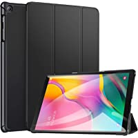 Robustrion Smart Trifold Hard Back Flip Stand Case for Samsung Tab A 10.1 Back Cover T510/T515 10.1 inch 2019 - Black