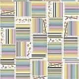 Plüsch Tapete we66234farbiger Glitzer Bleistift Design Weiß Papier Hochwertige Tapete, Vinyl-Finish, Papier Finish, einfach aufzuhängen