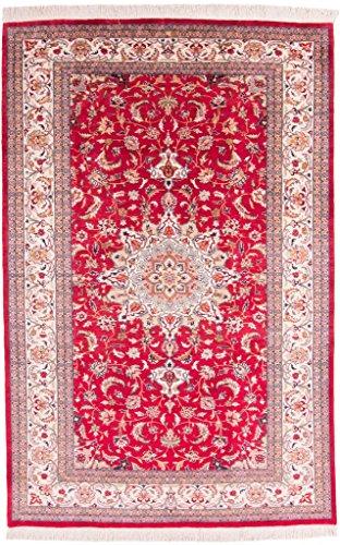 Kashan Roten Teppich (CarpetFine: China Kashan Teppich 185x284 Beige,Rot - Handgeknüpft - Floral)