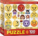 """Eurographics """"Emoji Anger"""" Puzzle (100 piezas, Multi-Color)"""
