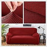 TT&CC Jacquard Sofa,Abdeckungen stuhlhussen Weichen Stoff Stretch Sitz 7 Farben 4 größe Vorhanden für 1 2 3 4 Vier-Personen-Sofa-D 4 Sitzer 235x300cm(93x118inch)