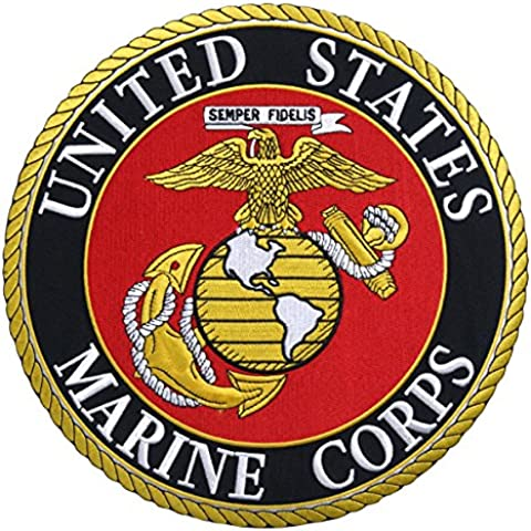 Hot Leathers, USMC MARINES MILITARY, High Thread Iron-On / Saw-On, Heat Sealed Backing Rayon PATCH - 10