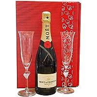 Moet & Chandon Geschenk-Set Hochzeit mit zwei Champagnergläsern