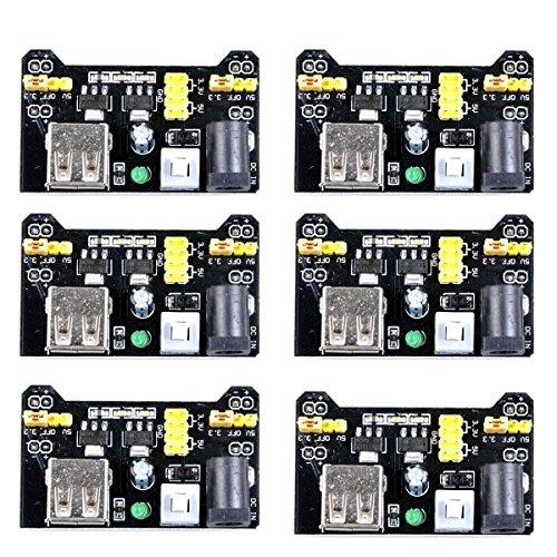ucec MB102 3,3 V/Breadboard Power Supply Module für Arduino Board lötfreie Steckplatine (Pack von 6) - Brot Pi Board Raspberry