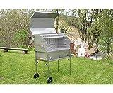 Barbecue professionnel PG 800Celebration hendl steckerlfisch Cheminée profi Barbecue Nirosta Barbecue charbon de bois Barbecue en acier inoxydable V2A