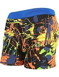 Demarkt Slip For Hommes, Pour Hommes De Bain De Haute Qualité Boxers Slip Plage/Sport/Natation Costume Rayures JauneA XL+1PC