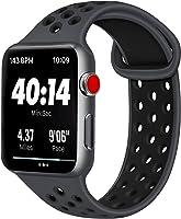 AK kompatibel Apple Watch Armband 42mm 38mm 44mm 40mm, Weiche Silikon Sport Ersatz Armband kompatibel iWatch Series 4,...