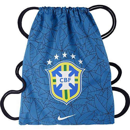 Nike Allegiance Brasil Gymsack 2.0 - Bolsa, color azul/negro/blanco