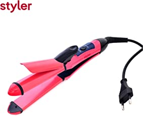 Styler 2 in 1 Hair Straightener and Curler