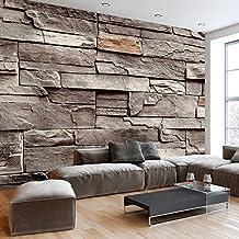 Fotomural 400x280 cm - 3 tres colores a elegir - Papel tejido-no tejido. Fotomurales Piedra Piedras óptica Muro f-B-0063-a-d