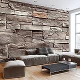 murando - Fototapete Steine 400x280 cm - Vlies Tapete - Moderne Wanddeko - Design Tapete - Wandtapete - Wand Dekoration - Stein Steinoptik Mauer f-B-0063-a-d