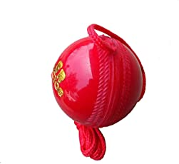 Sixon Sports Synthetic Red Hanging Ball for Knocking and Practice