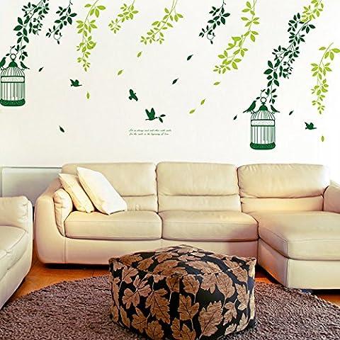 TV sfondo muro camera da letto salotto decorativo foglia vite adesivi da muro , c