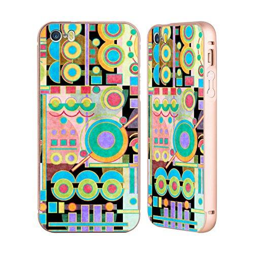 Ufficiale Shelly Bremmer Campo Di Gioco Geometrico Oro Cover Contorno con Bumper in Alluminio per Apple iPhone 5 / 5s / SE Campo Di Gioco
