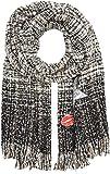 CODELLO Damen Schal 72096711, Schwarz (Black 7), One size (Herstellergröße: 70X200 cm)