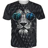 Idgreatim Unisex 3D Stampa Animalier Manica Corta T-Shirt Tees Graphic