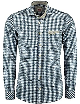 Spieth & Wensky Trachtenhemd Dennis blau
