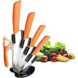CORESLUX Ensemble de couteaux en céramique, ensemble de couteaux de chef de cuisine, couteau à pain Super Sharp cinq pièces,r