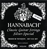 Hannabach Cuerdas para guitarra cl?sica, Serie 815 Para guitarras de 8/10 cuerdas, Medium Tension Plateado esp Re4