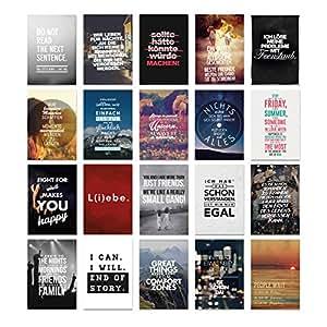 visual statements postkartenset mit 20 postkarten karten mit verschiedenen spr chen sch ne. Black Bedroom Furniture Sets. Home Design Ideas