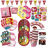 Unbekannt Bibi und Tina Party Set XL 118-teilig 6 Gäste Bibiparty Kindergeburtstag Partypaket